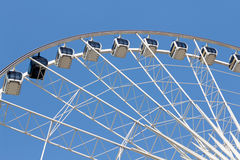 Ferris wheel in the park with clear blue sky Royalty Free Stock Photography