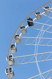 Ferris wheel in the park with clear blue sky Stock Image