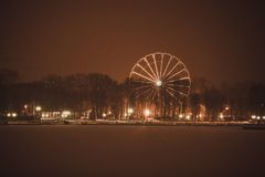 Ferris Wheel in the park, Kaliningrad Royalty Free Stock Image