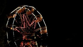 Ferris Wheel Park At Night. Amusement Park At Night - Ferris Wheel stock video footage