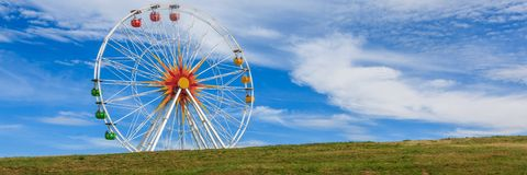 Ferris wheel in a park in Saxony, Germany. stock photo