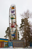 Ferris wheel in the Park in winter Royalty Free Stock Images