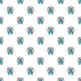 Ferris wheel pattern seamless. Ferris wheel pattern in cartoon style. Seamless pattern vector illustration Stock Photo