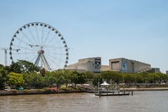 Ferris Wheel and Performing Arts Centre, Brisbane Australia. Stock Photo