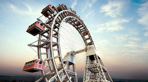 Ferris wheel. Perspective Ferris wheel And  landmarks Stock Images