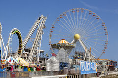 Ferris Wheel on Pier Royalty Free Stock Images