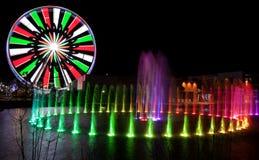 Ferris Wheel in Pigeon Forge, Tennessee durante le feste di Natale Fotografie Stock Libere da Diritti