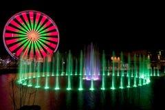 Ferris Wheel in Pigeon Forge, Tennessee durante le feste di Natale Immagini Stock
