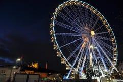 Ferris wheel at place Bellecour, Lyon, France.  Stock Image