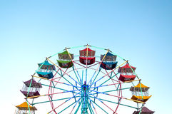 Ferris wheel Player of the fun kids with blue sky Royalty Free Stock Photos