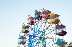 Ferris wheel Player of the fun kids with blue sky Stock Photo
