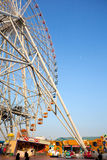 Ferris wheel in playground Stock Photography