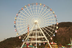 Ferris wheel. A Ferris wheel in the pleasure ground Royalty Free Stock Images