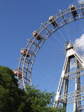 Ferris wheel - prater vienna. Famous giant old ferris wheel which is part of the prater - Vienna's historic amusement park Stock Image