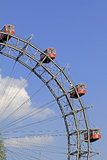 Ferris wheel - Prater, Vienna. The Riesenrad, which is a giant ferris wheel in the amusement park Prater in Vienna, Austria Stock Images