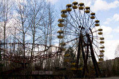 Ferris wheel in Pripyat ghost town Stock Image