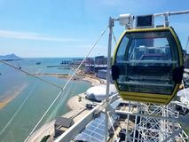 Ferris wheel From Qingdao  royalty free stock photo