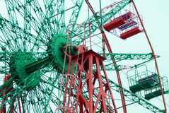 Ferris wheel. With rad and blue colors Stock Photos