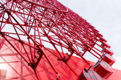 Ferris Wheel. Red Ferris Wheel with sky of Osaka Royalty Free Stock Image