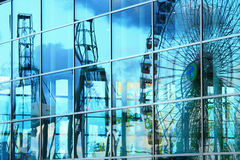 Ferris wheel reflection Royalty Free Stock Photos