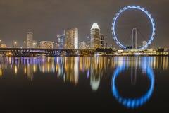 Ferris wheel reflection Royalty Free Stock Image