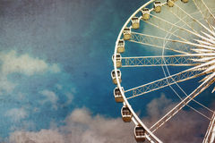 Ferris wheel retro Royalty Free Stock Image
