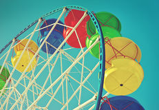 Ferris wheel in retro vintage style royalty free stock image