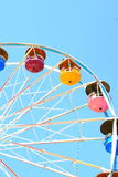 Ferris Wheel Ride. Multi colored buckets on a ferriswheel carnival ride Royalty Free Stock Photos