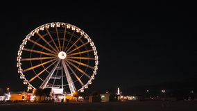 Ferris Wheel in Rimini stock video footage