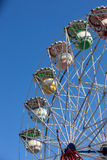 Ferris wheel rotating in an amusement park Royalty Free Stock Photography