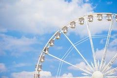Ferris wheel Roue de Paris on the Place de la Concorde from Tuileries Garden in Paris, France Stock Photos