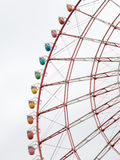 Ferris Wheel rouge Image stock