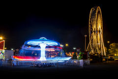 Ferris wheel and roundabout Royalty Free Stock Photos