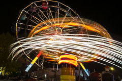Ferris wheel and roundabout Stock Photo