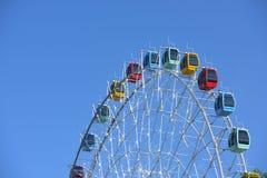 Ferris Wheel, ruota di osservazione con cielo blu Fotografie Stock Libere da Diritti