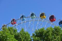 Ferris Wheel, ruota di osservazione con cielo blu Immagine Stock Libera da Diritti
