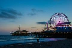 Ferris Wheel in Santa Monica at night. California USA Royalty Free Stock Images