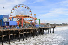 Santa Monica pier. Ferris Wheel at the Santa Monica pier in the afternoon Stock Photo