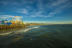 The Ferris Wheel at the Santa Monica Pier, California Royalty Free Stock Photo