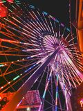Ferris Wheel at Santa Monica Pier fun park Royalty Free Stock Photos