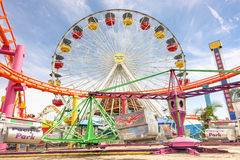 Ferris wheel at Santa Monica pier - Los Angeles Stock Images