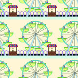 Ferris wheel seamless background design. A background design for graphic element use Stock Images