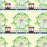 Ferris wheel seamless background design Stock Images