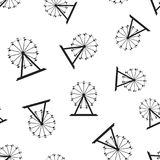 Ferris wheel seamless pattern background. Business flat vector i. Llustration. Carousel amusement ride sign symbol pattern Stock Image