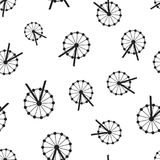 Ferris wheel seamless pattern background. Business flat vector i. Llustration. Carousel amusement ride sign symbol pattern Stock Photo