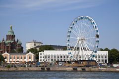 Ferris wheel in the seaport of Helsinki Royalty Free Stock Photo