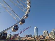 Ferris wheel and Seattle skyline. Stock Image