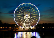 Ferris wheel and Seine Royalty Free Stock Photography