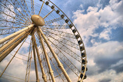 Ferris Wheel Series I. A view of a ferris wheel at an amusement park stock photography