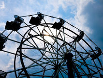 Ferris Wheel Silhouette Stock Images